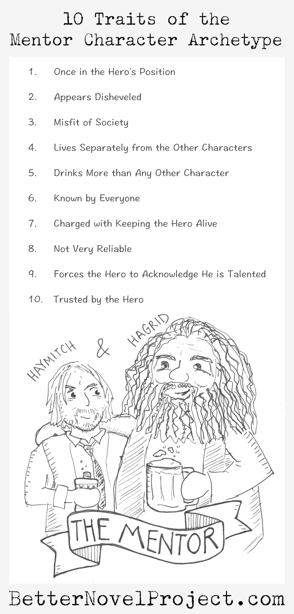 10 traits of the mentor character archetype  hagrid
