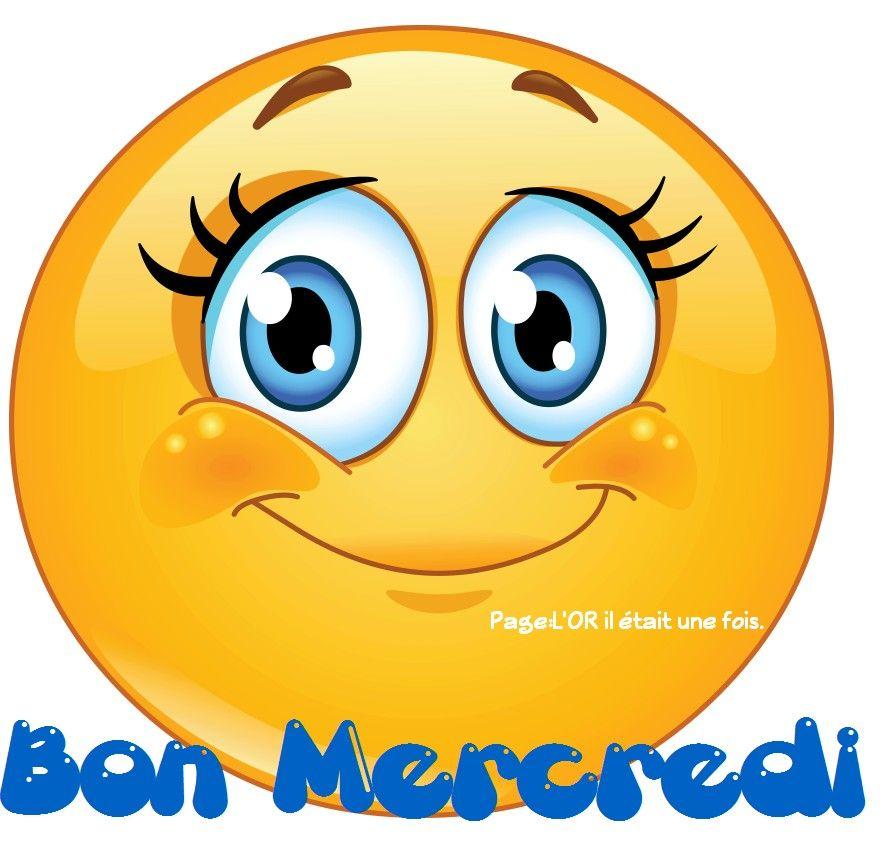 Bon mercredi mercredi smiley sourire bonne humeur bonjour caf smiley sourire emoticone - Image sourire gratuit ...