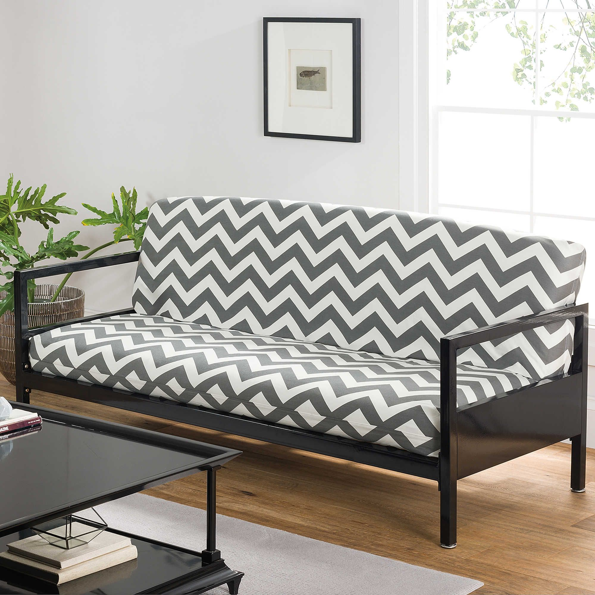Loft Ny Cotton Rich Full Futon Cover In Grey Chevron 40 At Bed Beth And Beyond