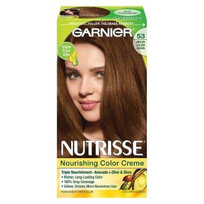Garnier Nutrisse Hair Color--Color: 53 Chestnut Medium Golden ...