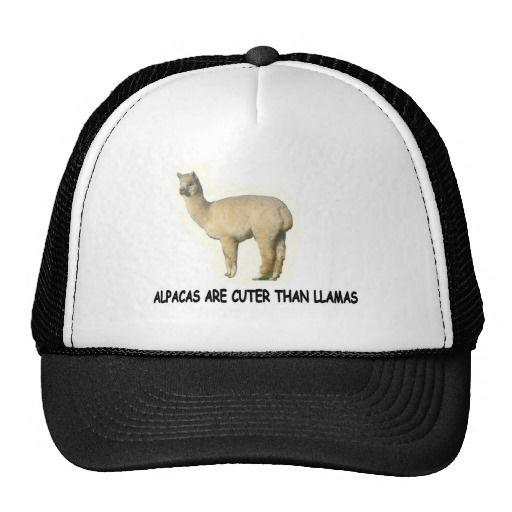 7b03796b68c Alpacas are cuter than llamas trucker hats