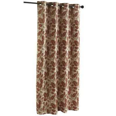 """Chenille Leaves Curtain - Clay 96"""""""