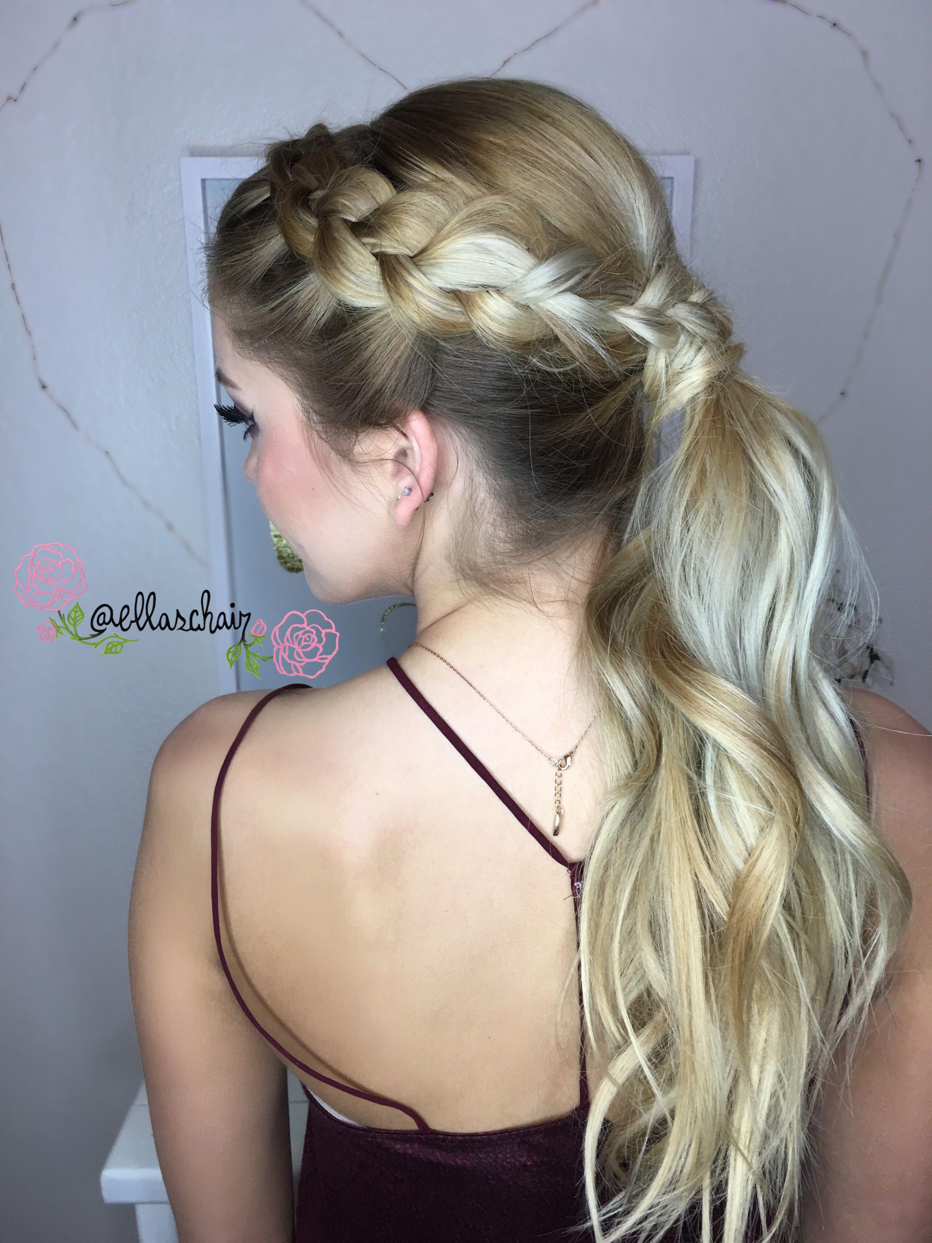 ✨dutch braid into ponytail❣✨ hair.style @ellaschair