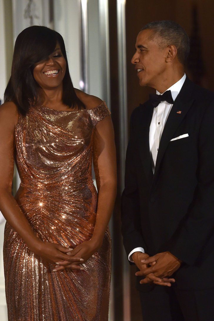 Michelle Obama Steals the Spotlight Away From Barack at Their Last State Dinner