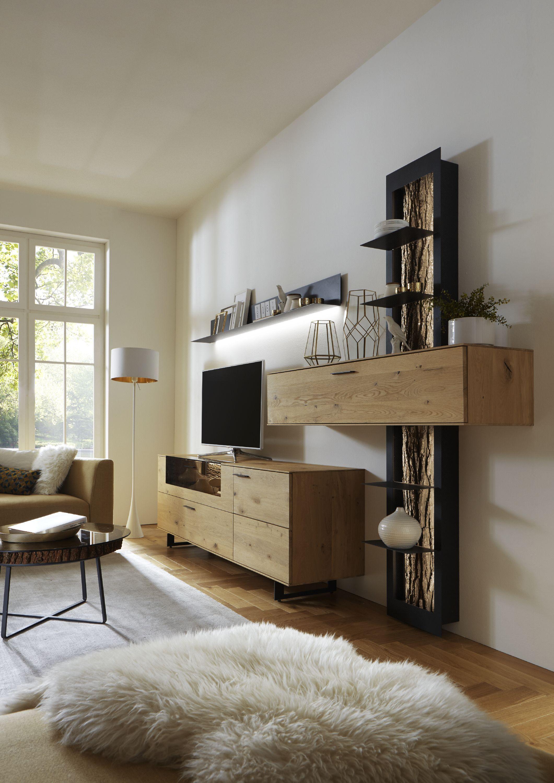 Wohnwand Heda In 2020 Wohnen Wohnzimmerwand Und Wohnzimmer Design