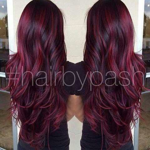 Inspirational Wine Red Hair Color