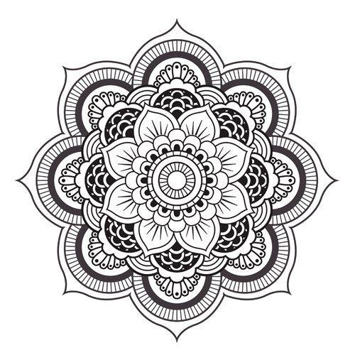 mandala tatouage tatouages fleurs futur tatouage ide tatoo imprimer coloriage mandalas dart projets 500 500