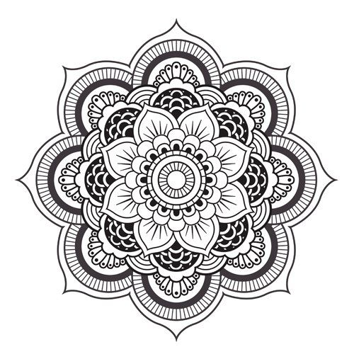 1jpg 500500 - Dessin Mandala Imprimer