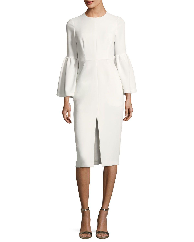 a1894cca403 Jill Jill Stuart Trumpet-Sleeve Front-Slit Dress