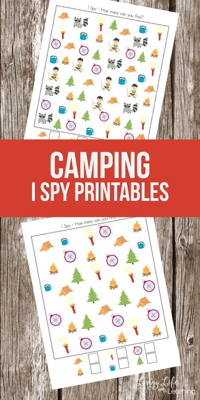 Super Fun Camping Themed I Spy Printables For Kids Camping Theme Preschool Camping Preschool Camping Classroom [ 1400 x 700 Pixel ]