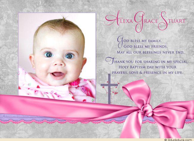 Baptism Celebration Thank You Cards Photos Christening Photo