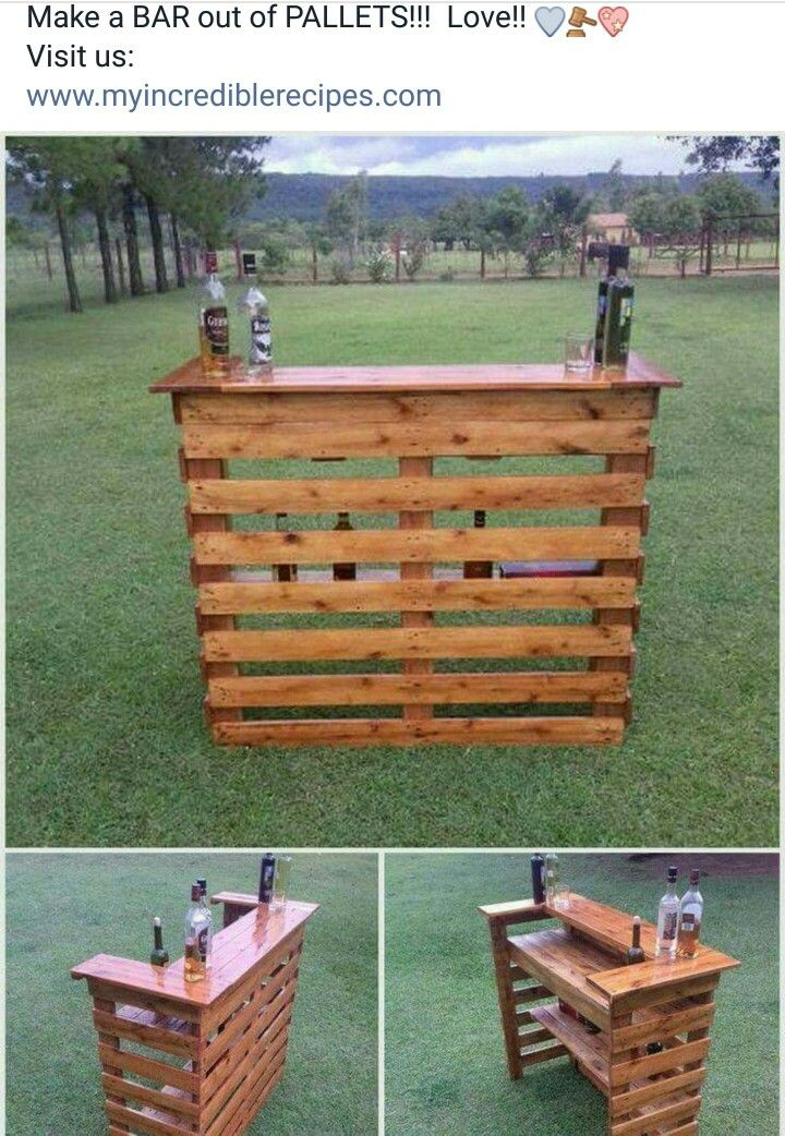 Make A Bar Out Of Pallets Diy Pallet Projects Diy Outdoor Bar Pallet Decor