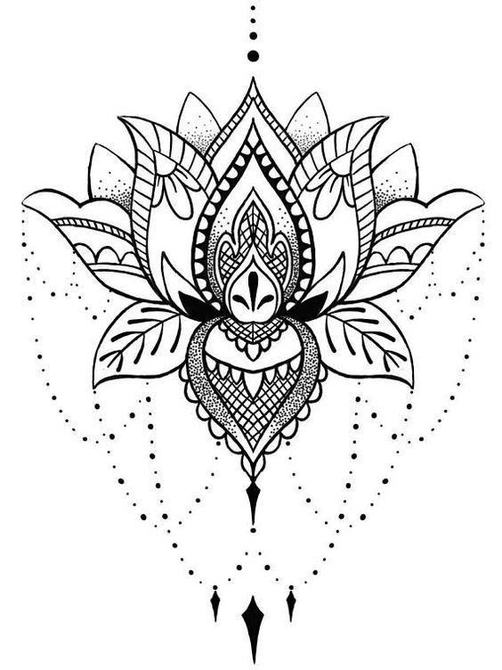 Flor De Lotus Mais De 70 Modelos De Desenhos Tatuagens Ideias Tatuagem Desenhos Para Tatuagem Tatuagem De Lotus Em Mandala
