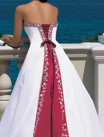 f8f79e42555a Model Alfred Angelo Bridal, Red Bridesmaid Dresses, Colored Wedding Dresses,  Wedding Dress Styles