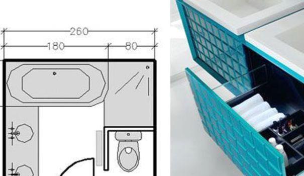18 plans de salle de bains de 5 11 m d couvrez nos for Double vasque sdb