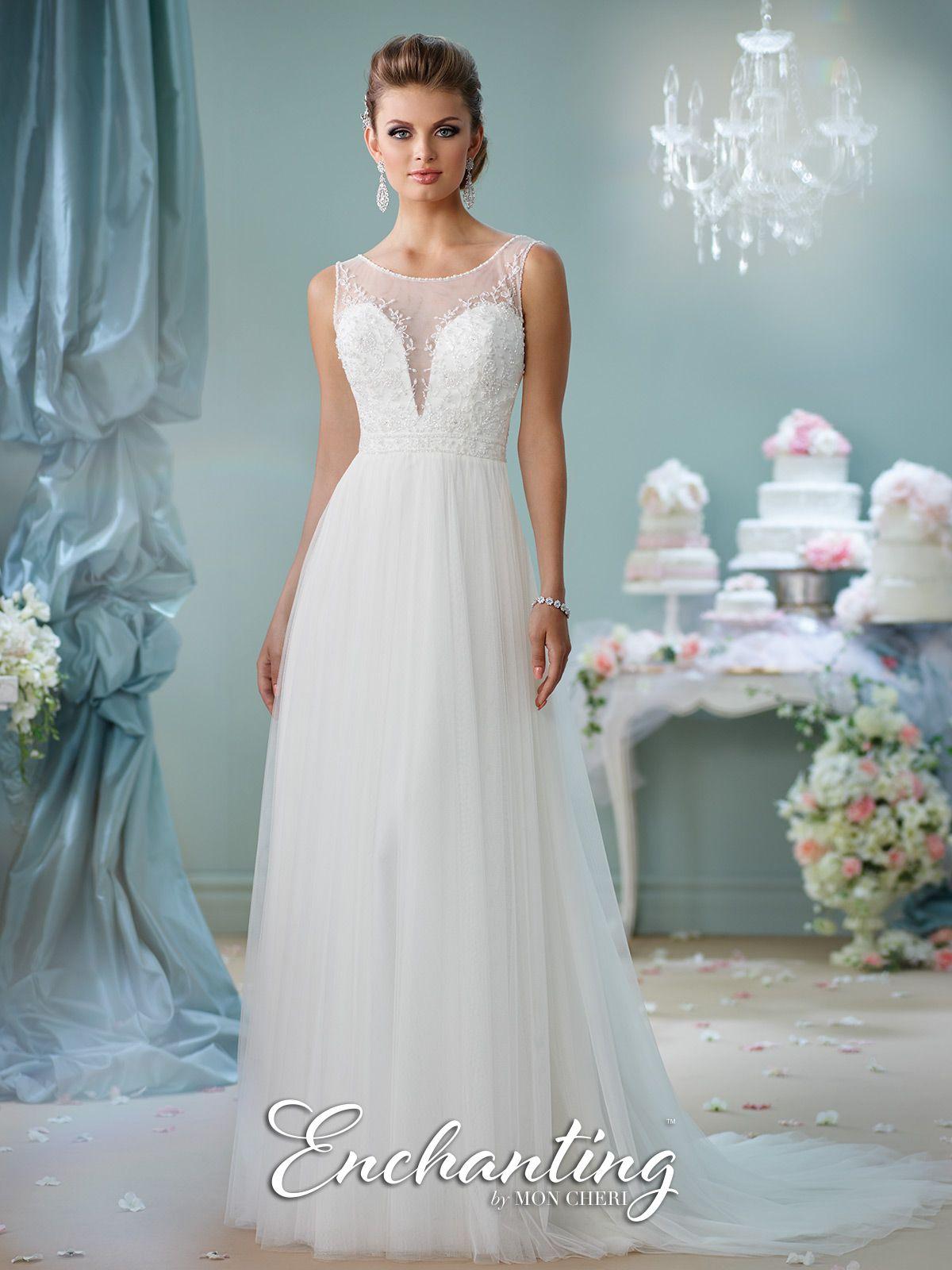 Modern wedding dresses by mon cheri pinterest bateau