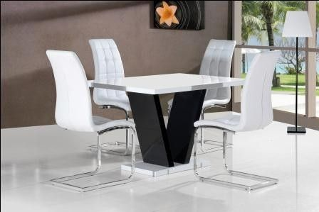 Glass Dining Sets Product Categories Allans Furniture Warehouse Black And White Dining Room Contemporary Dining Table White Dining Room