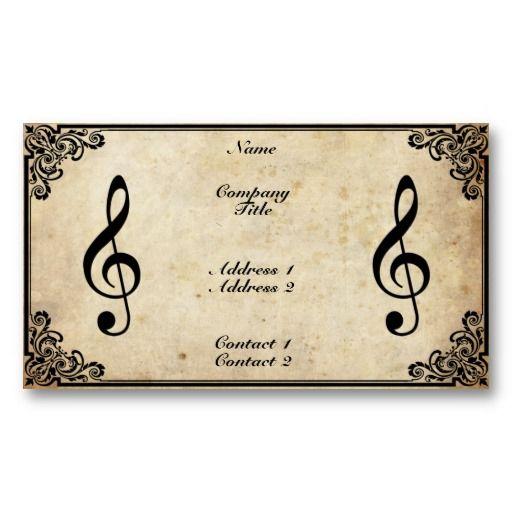 Music Teacher Business Card Zazzle Com Teacher Business Cards Beautiful Business Card Cool Business Cards