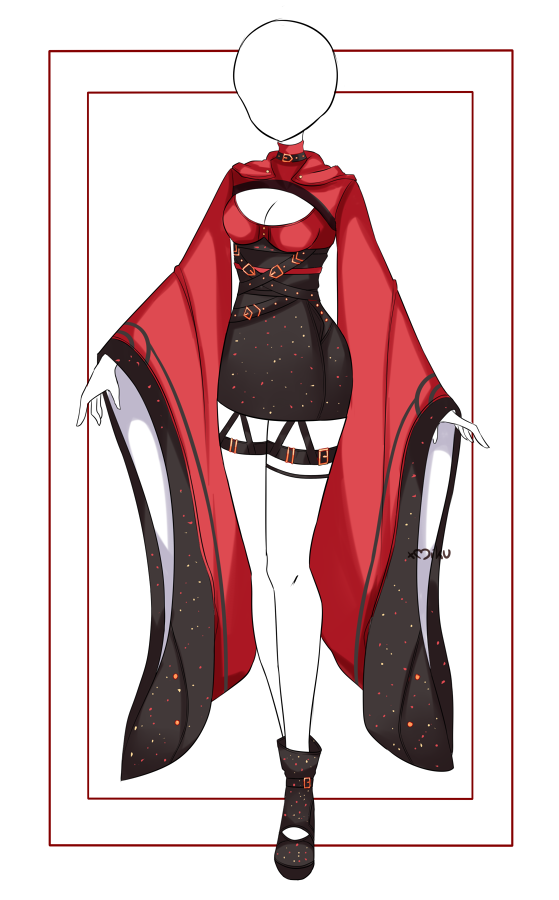{Closed} Auction Outfit 511 + lineart by xMikuChuu