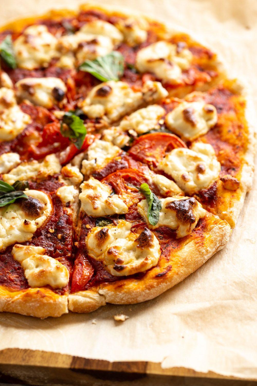 Vegan Margherita Pizza With Cashew Mozzarella Recipe Food