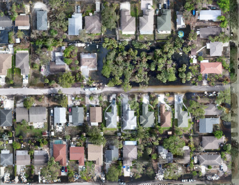 Aerial Mapping of Storm damage after Hurricane Irma Drones are being on