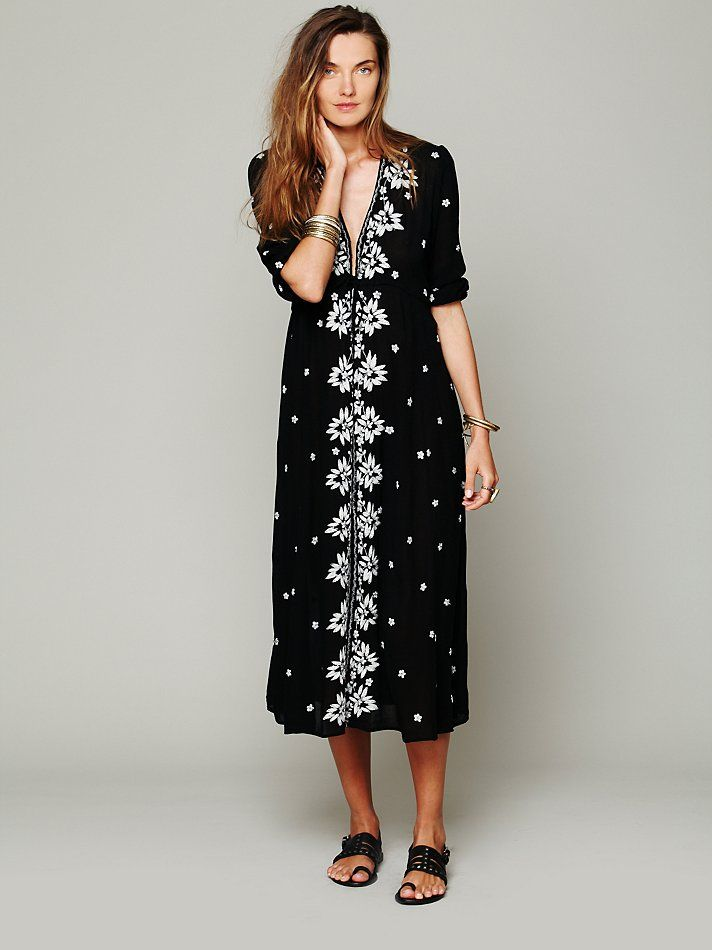 Free people embroidered fable dress at