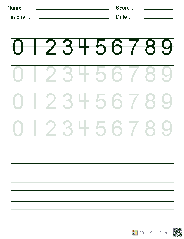 Number Writing Practice Sheet – Number Writing Practice Worksheets