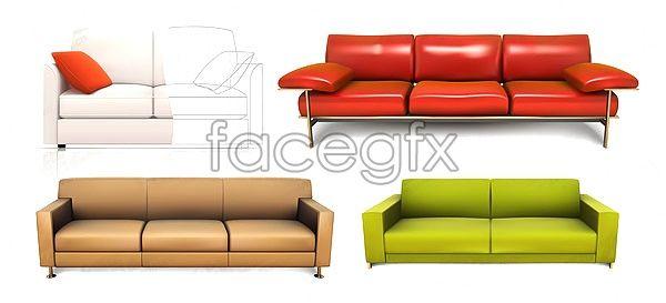Sofa Bed Vector