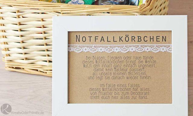 Notfallkrben Inhalt DIY Toilette Hochzeit Gastgeschenk