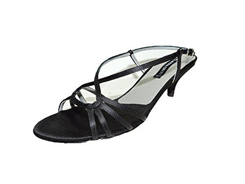 Claudia Ciuti Womens Frida Black Satin Kitten 225 Heels Sandals Size 6 M -- Check this awesome product by going to the link at the image.