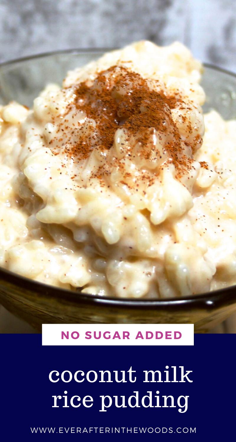 No Sugar Added Creamy Rice Pudding In 2020 Coconut Milk Rice Pudding Creamy Rice Pudding Coconut Milk Rice