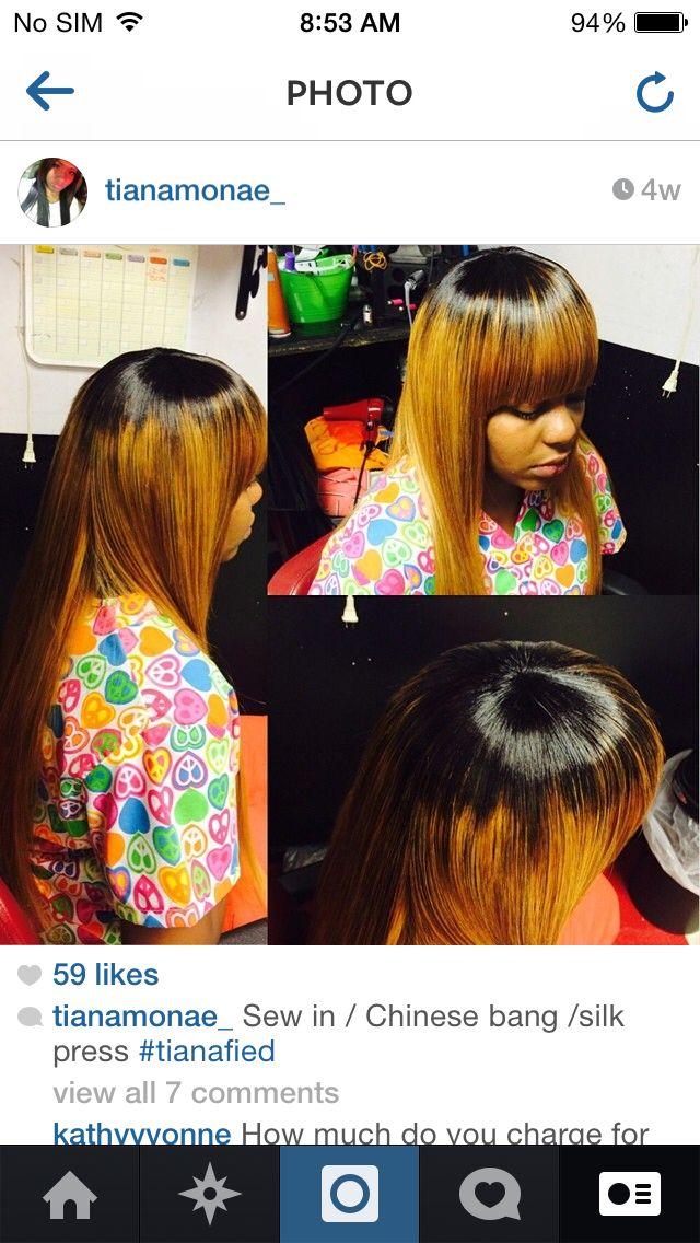 Blonde Black Chinese Bangs Hair Pinterest Chinese Bangs Hair