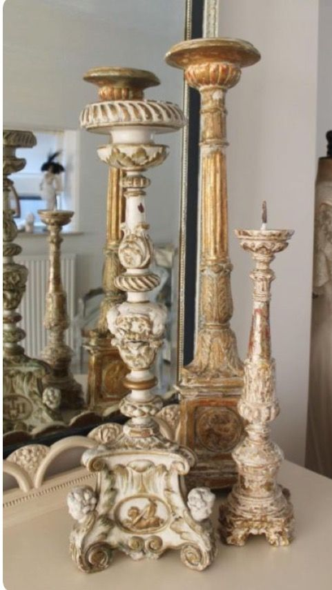 French Candle Holders French Decor Pinterest