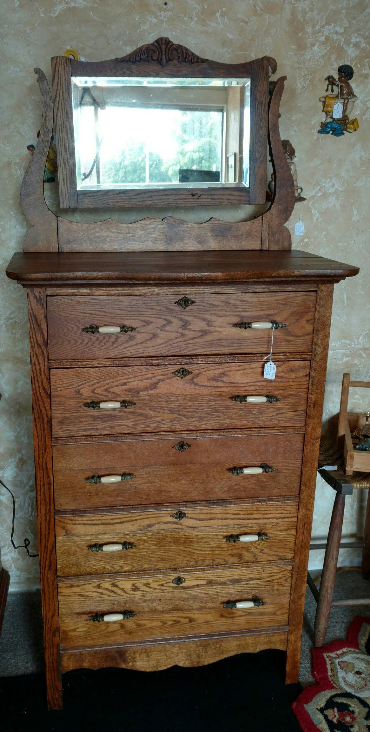 Refinished antique oak hi-boy. - Refinished Antique Oak Hi-boy... Odds & Ends In 2018 Pinterest