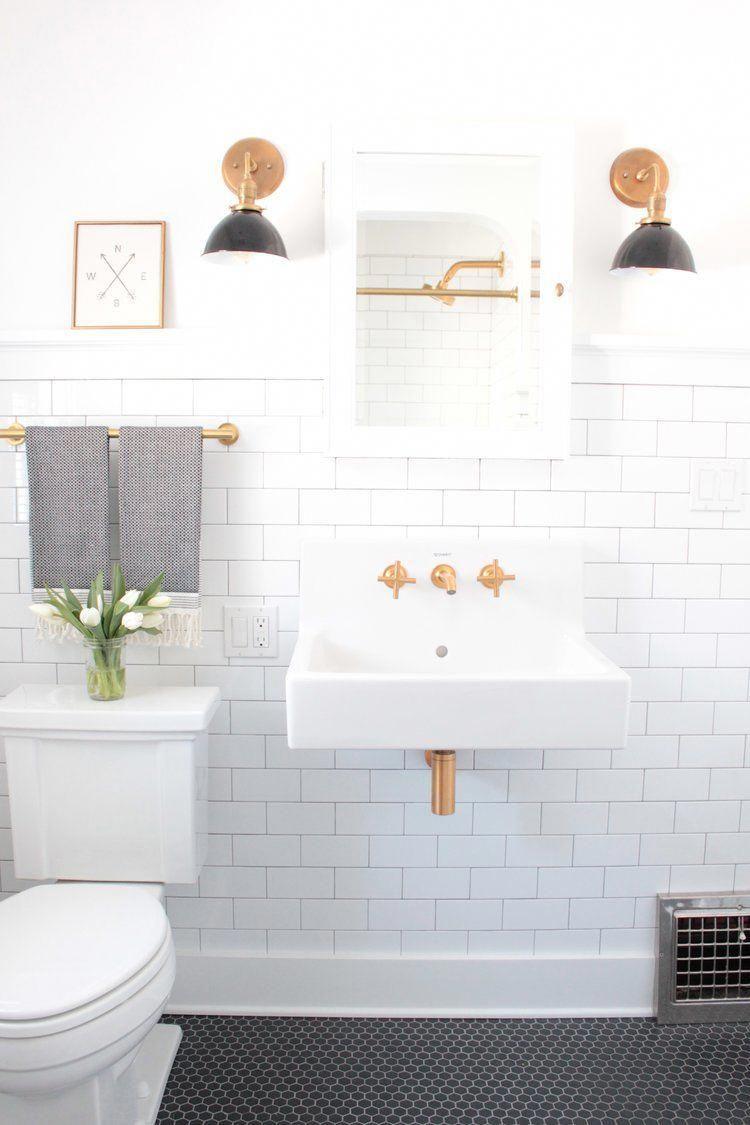 Dp Building Spokane Wa Bathroom Remodel White Subway Tile Black Hexagon Tile Kohler Purist Fauce Bathrooms Remodel Simple Bathroom Remodel Diy Bathroom Remodel