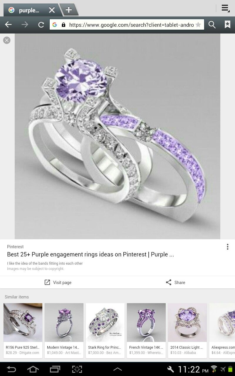Pin by Elizabeth Barber on jewelry Purple engagement