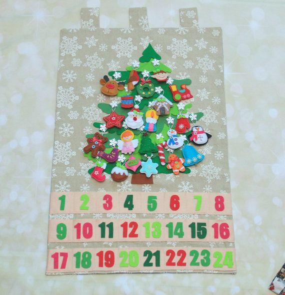Christmas Advent Calendar Countdown Christmas Religious Calendar Felt  Christmas Ornaments Christmas Decoration Calendar With Pockets