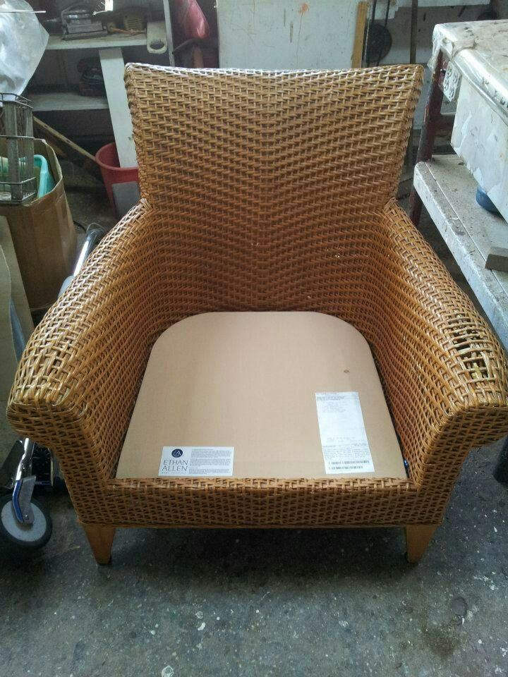 Ethan Allen Armchair Before Being Rd