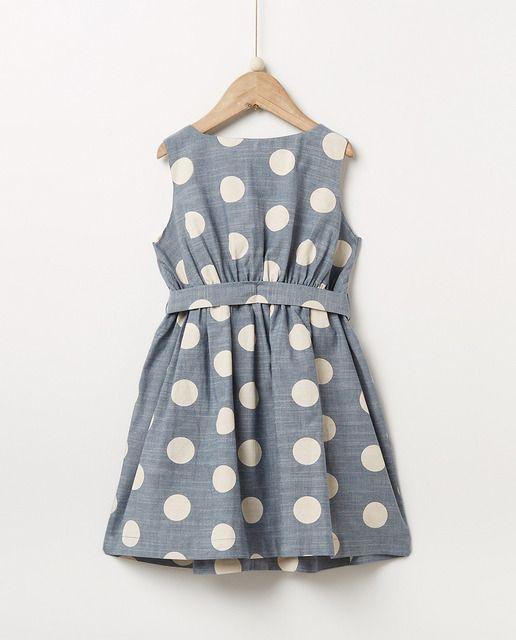 462ec8508 Vestido de niña Sfera con estampado
