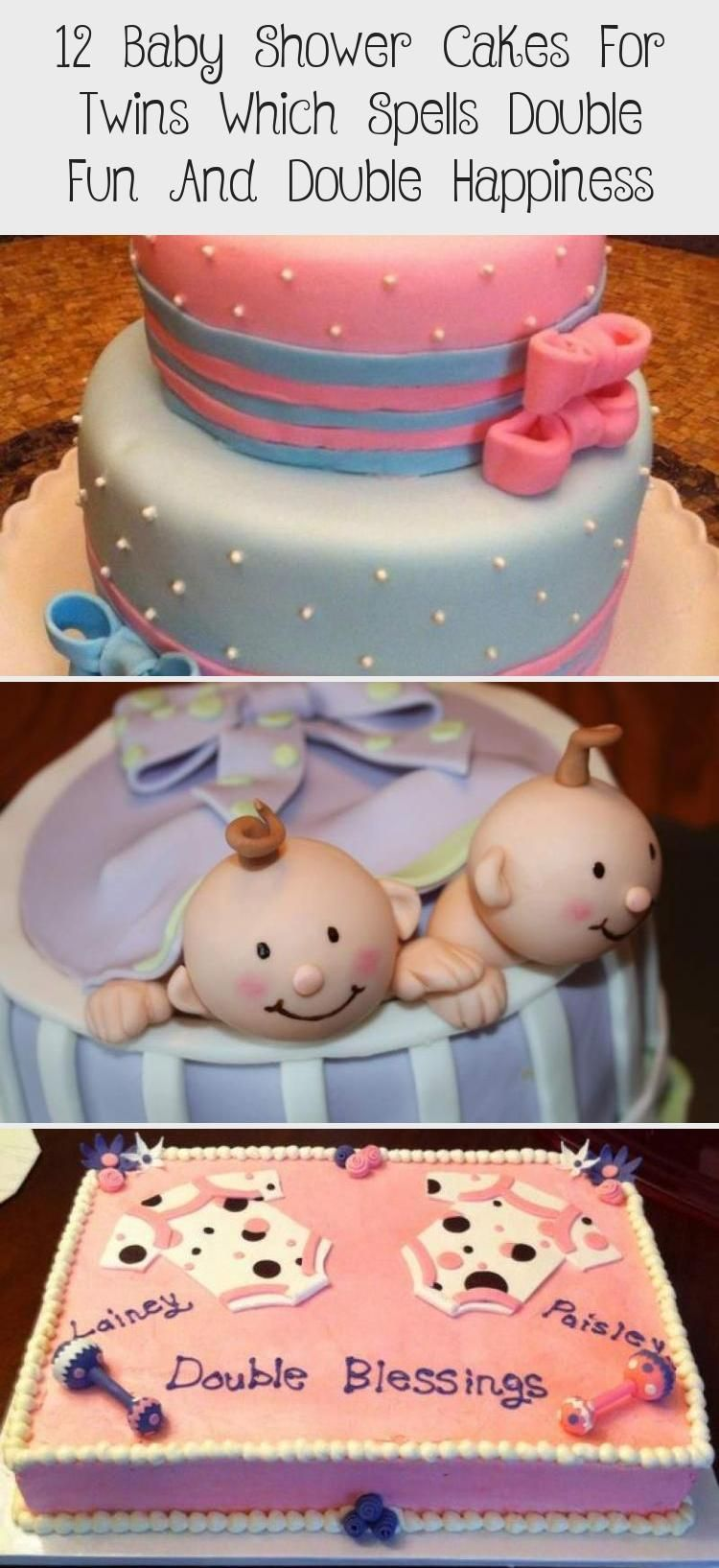 12 baby shower cakes for twins that mean double fun and double happiness - fitness for health and di...