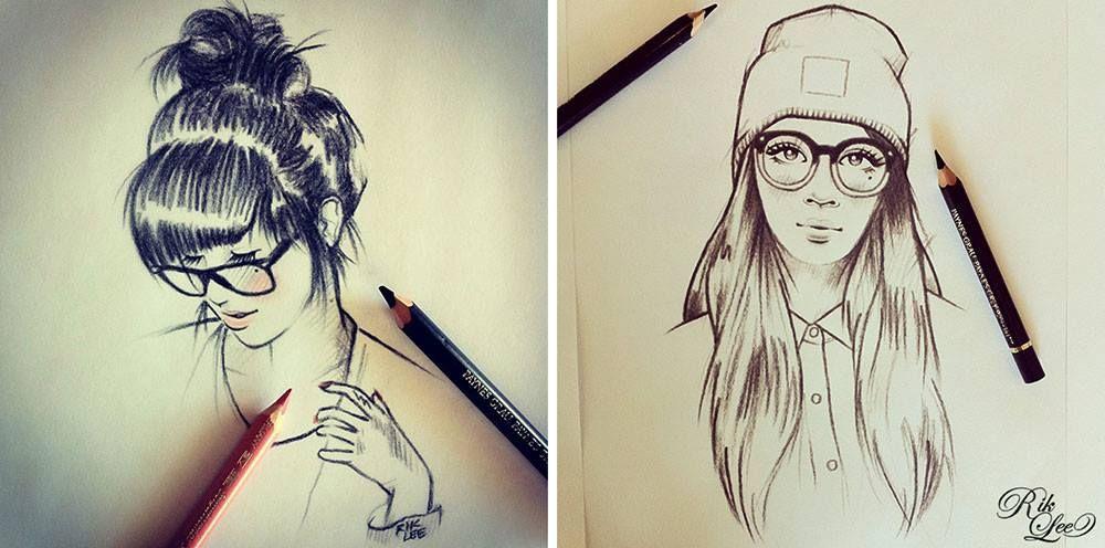 Las Caras Bonitas De Rik Lee Ilustracion Arte Del Bosquejo Como Dibujar Cosas Dibujos
