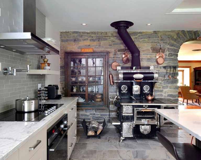 30 Inventive Kitchens With Stone Walls Kitchen Stone Wall