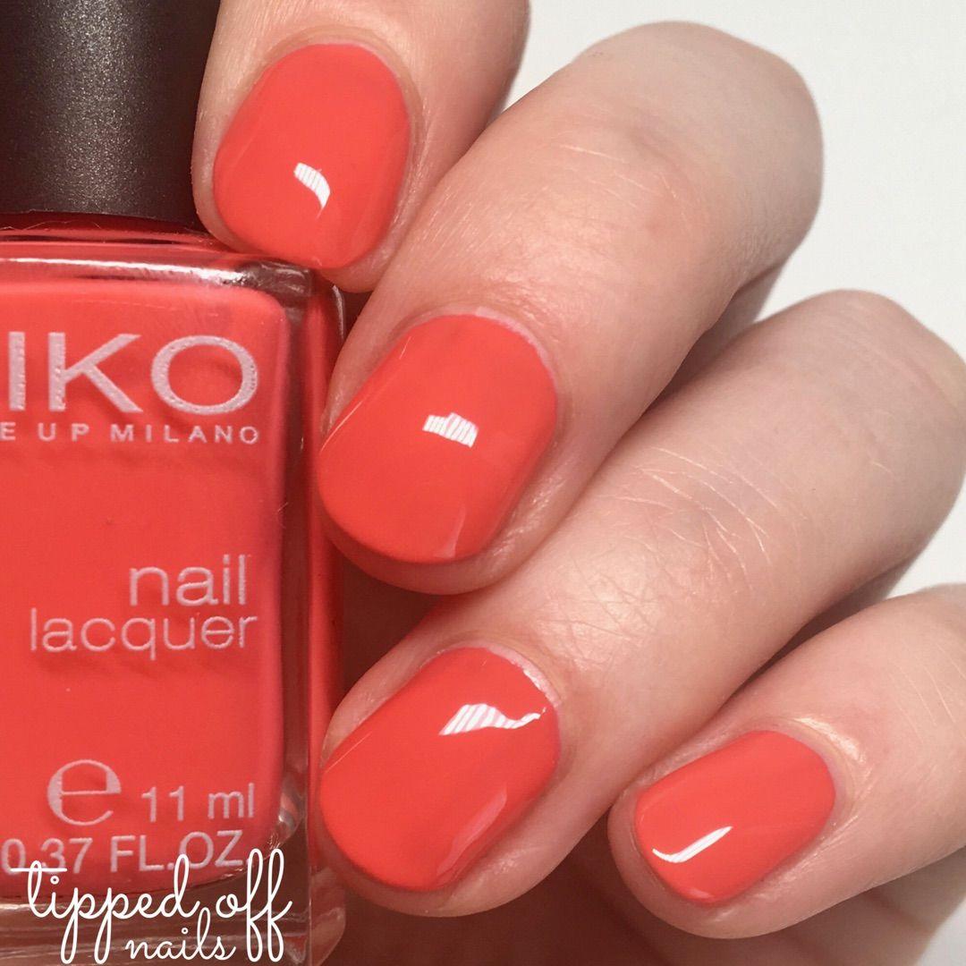 Kiko Milano Nail Lacquer Swatches - 281 Mango | Swatches | Pinterest ...