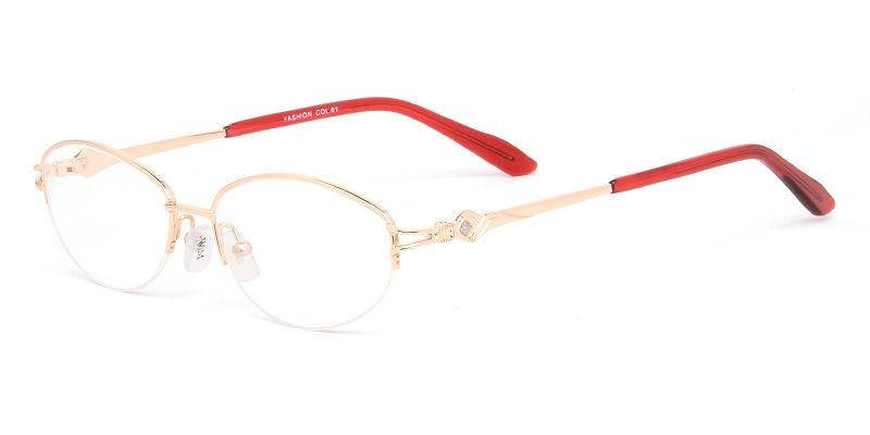 Women's semi-rimless metal eyeglasses | ☆Featured Eyeglasses ...