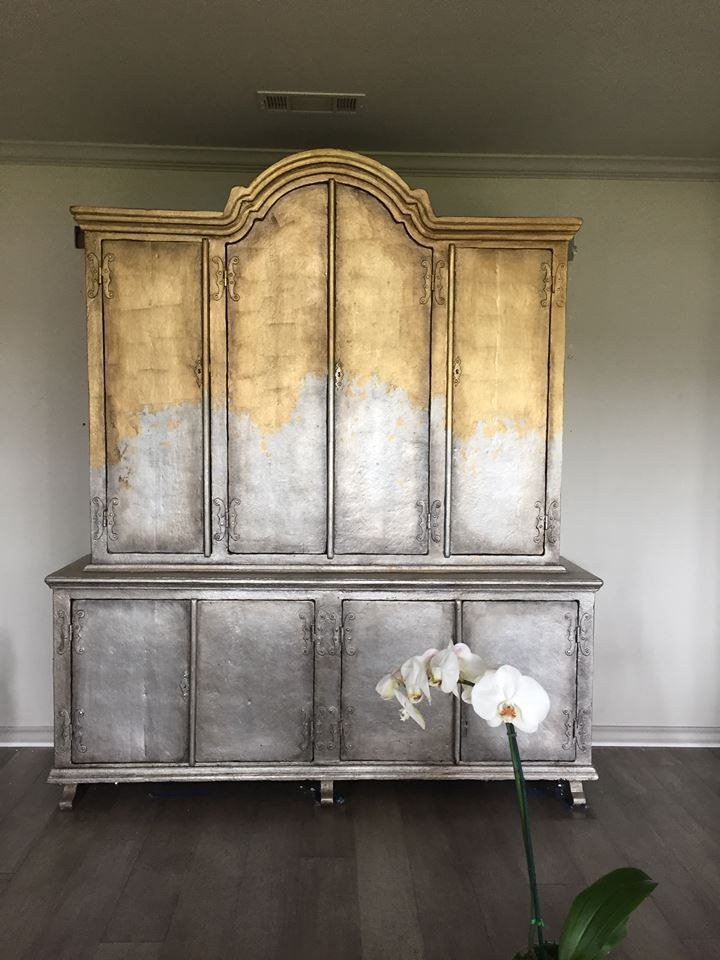 Pin On Metallic Silver Painted Furniture, Silver Leaf Furniture
