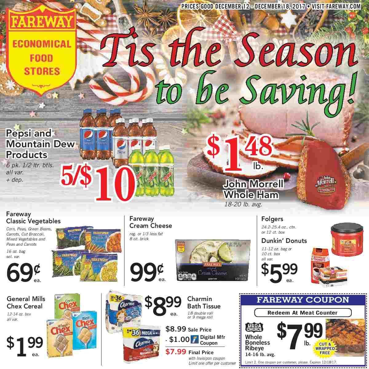 Fareway weekly ad december 12 18 2017 fareway