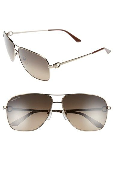 Salvatore Ferragamo 61mm Navigator Sunglasses