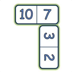 Un jeu de dominos sur les compléments à 10.