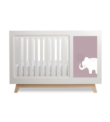 Sam Crib With Elephant Panel 1175 00 Kids Furniture Kid Beds