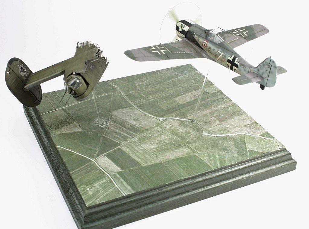 Zvezda Fw 190 A-4 (with Airfix B-24 Tail)